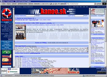 Dizajn stránky z roku 2002.
