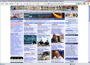 Dizajn stránky od roku 2004.