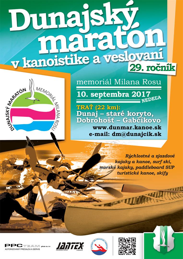 Plagát na Dunajský maratón 2017