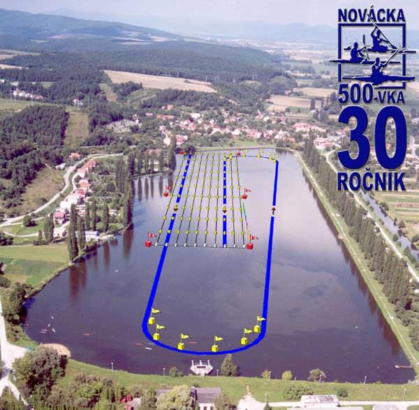 Novácka päťstovka, 30. ročník - plán trate