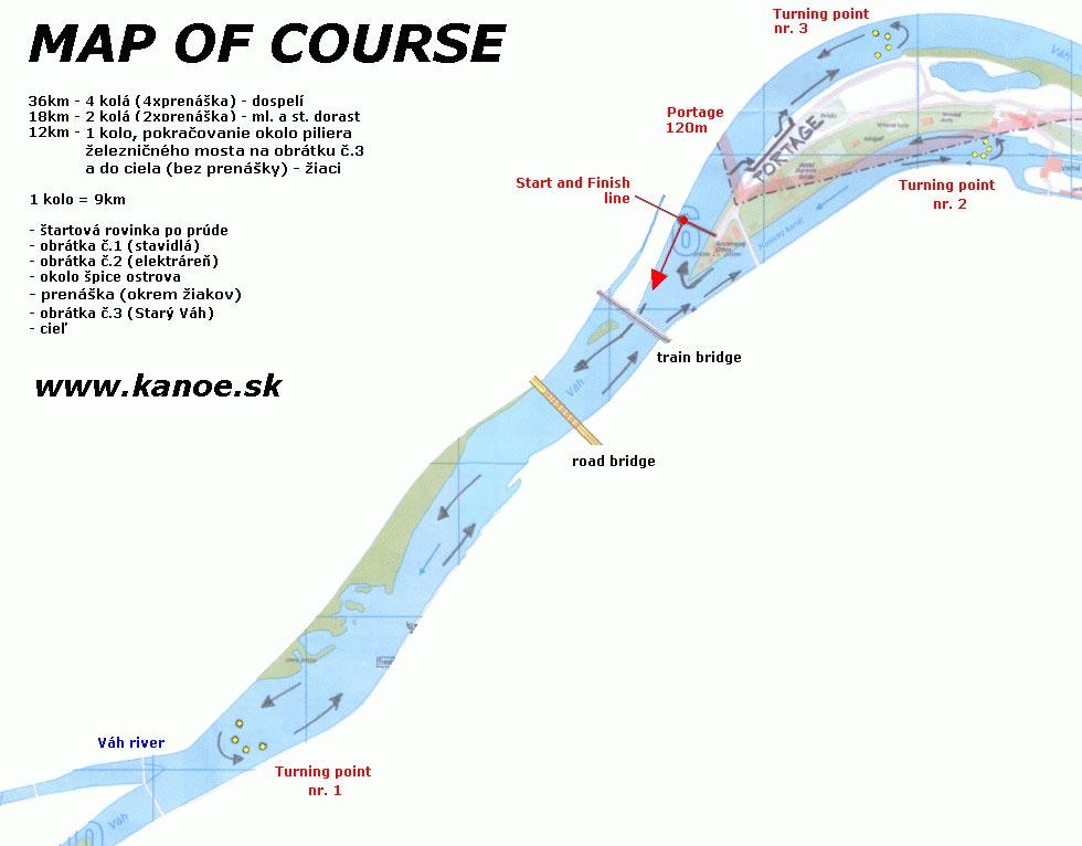 Majstrovstvá Slovenska maratón - plán trate