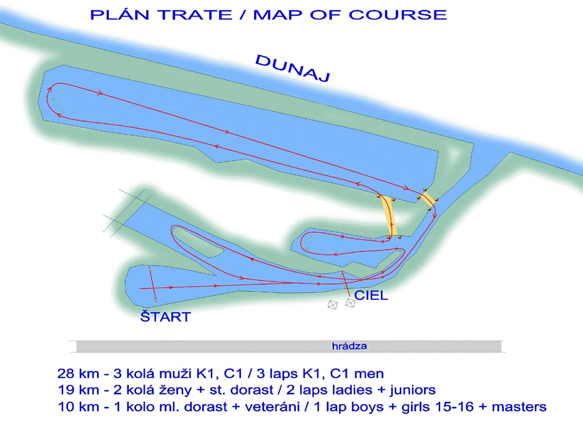 Dunajský maratón - plán trate
