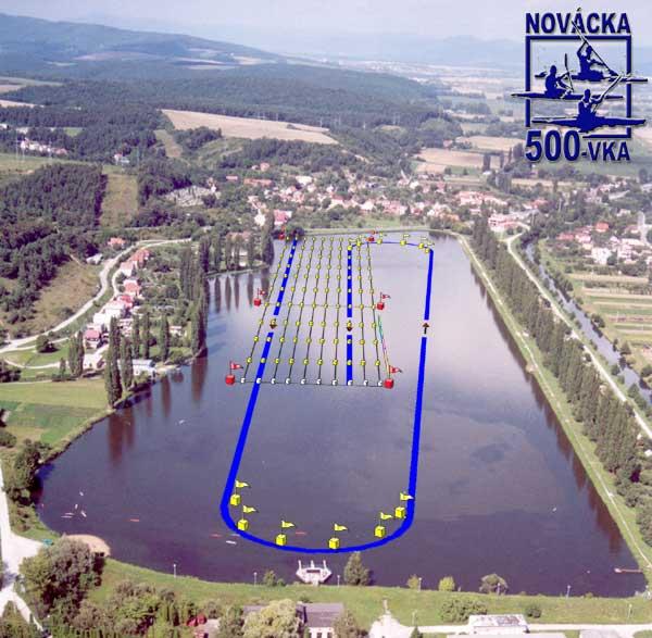Novácka päťstovka, 33. ročník - plán trate