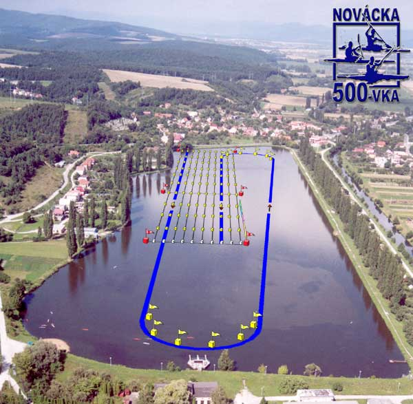 Novácka päťstovka, 34. ročník - plán trate