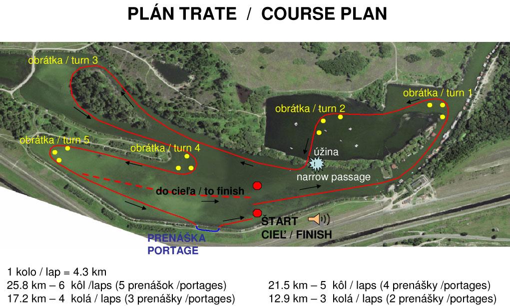 Dunajský maratón, 20. ročník - plán trate