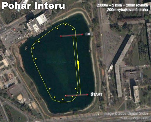 Pohár Interu 37. ročník - plán trate