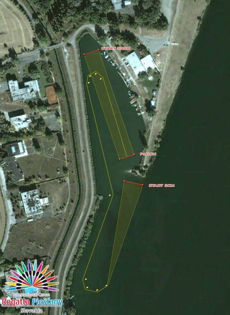 Medzinárodná regata, 24. ročník - plán trate