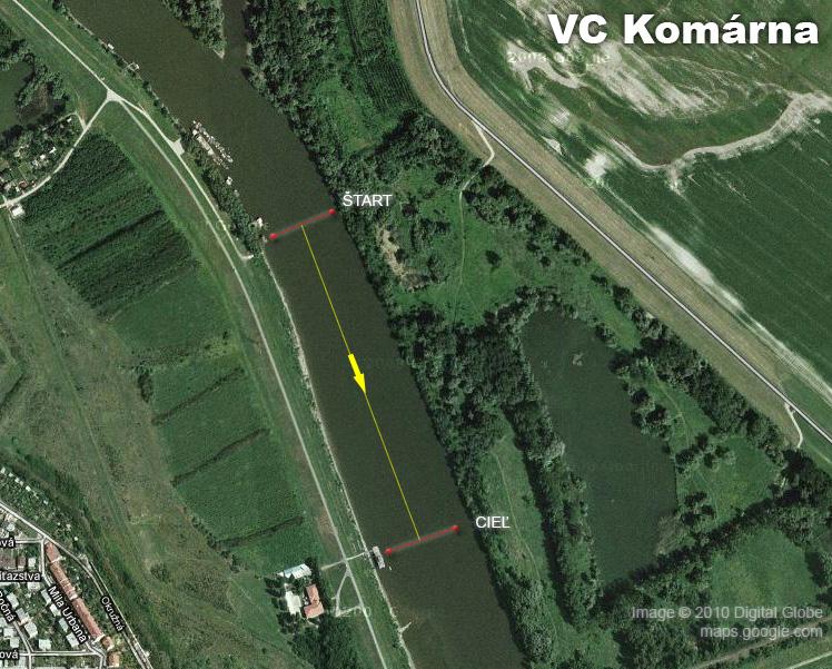 VC Komárna, 52. ročník - plán trate